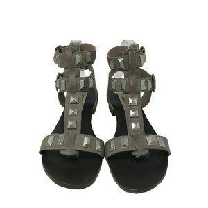 Steve Madden Women's Silver Gladiator Sandal 9 US